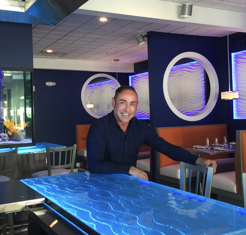 Restaurant Designer Raymond Haldeman at Fins in Cape May, NJ where he gutted the old Pilot House and created one of Cape Mays most popular and vibrant tourist attractions.