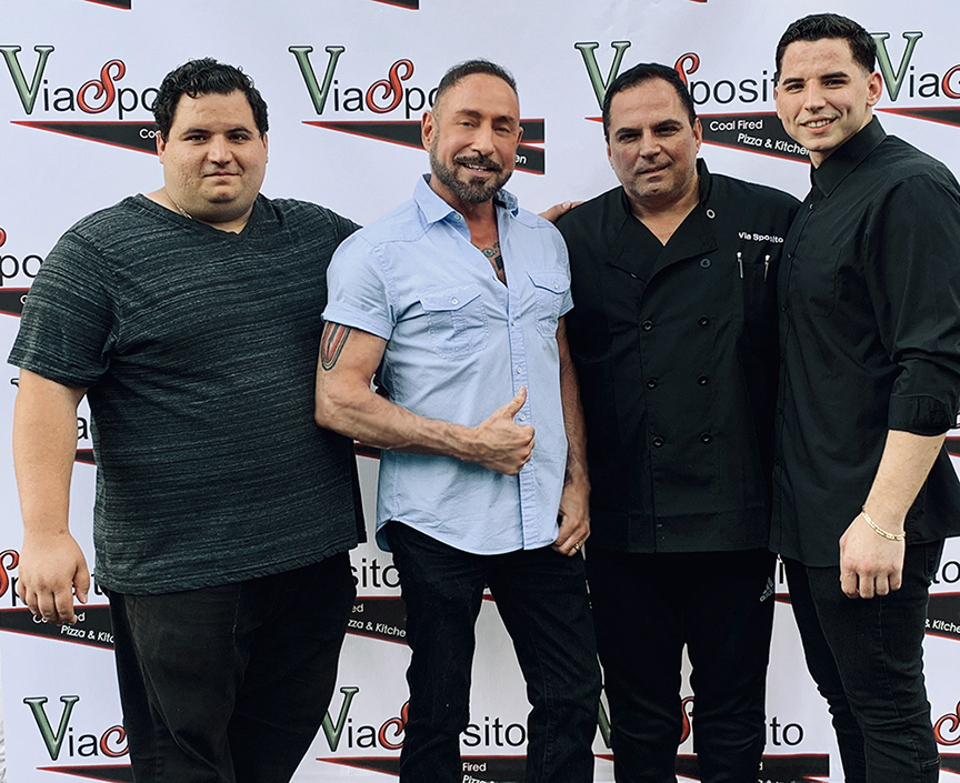 Raymond with the Esposito family at the Grand Opening oh their new restaurant ViaSposito in Old Bridge, NJ