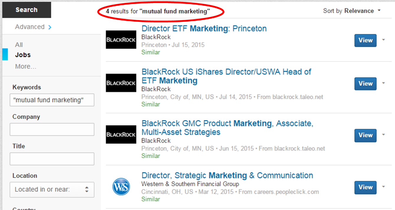Mutual Fund Marketing Jobs LinkedIn