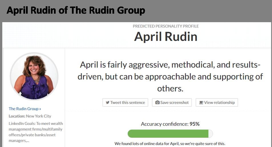 April Rudin image