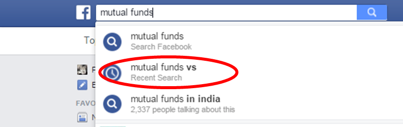 Mutual Funds Assisted Facebook Search