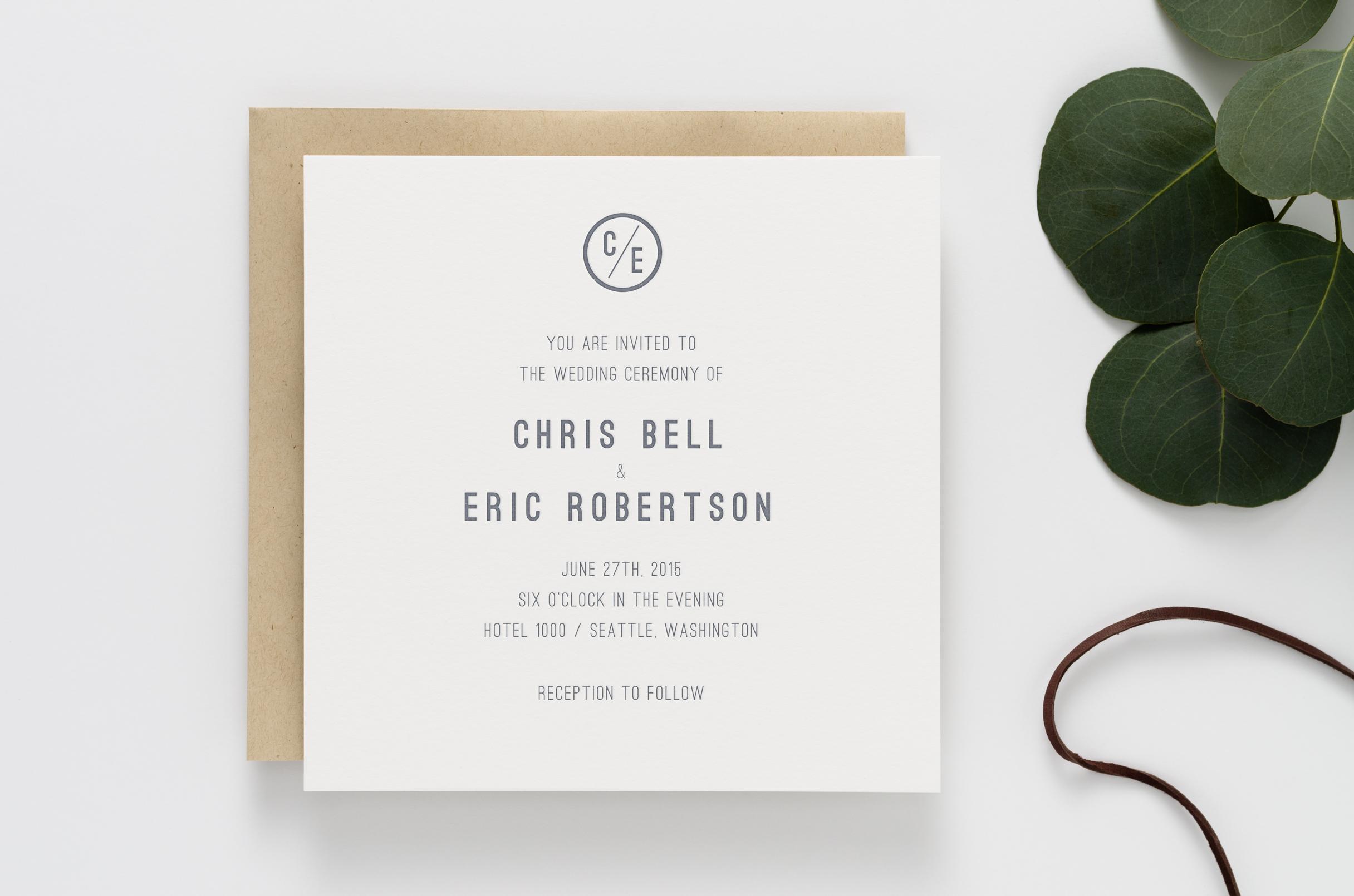 Harrison Wedding Invitation