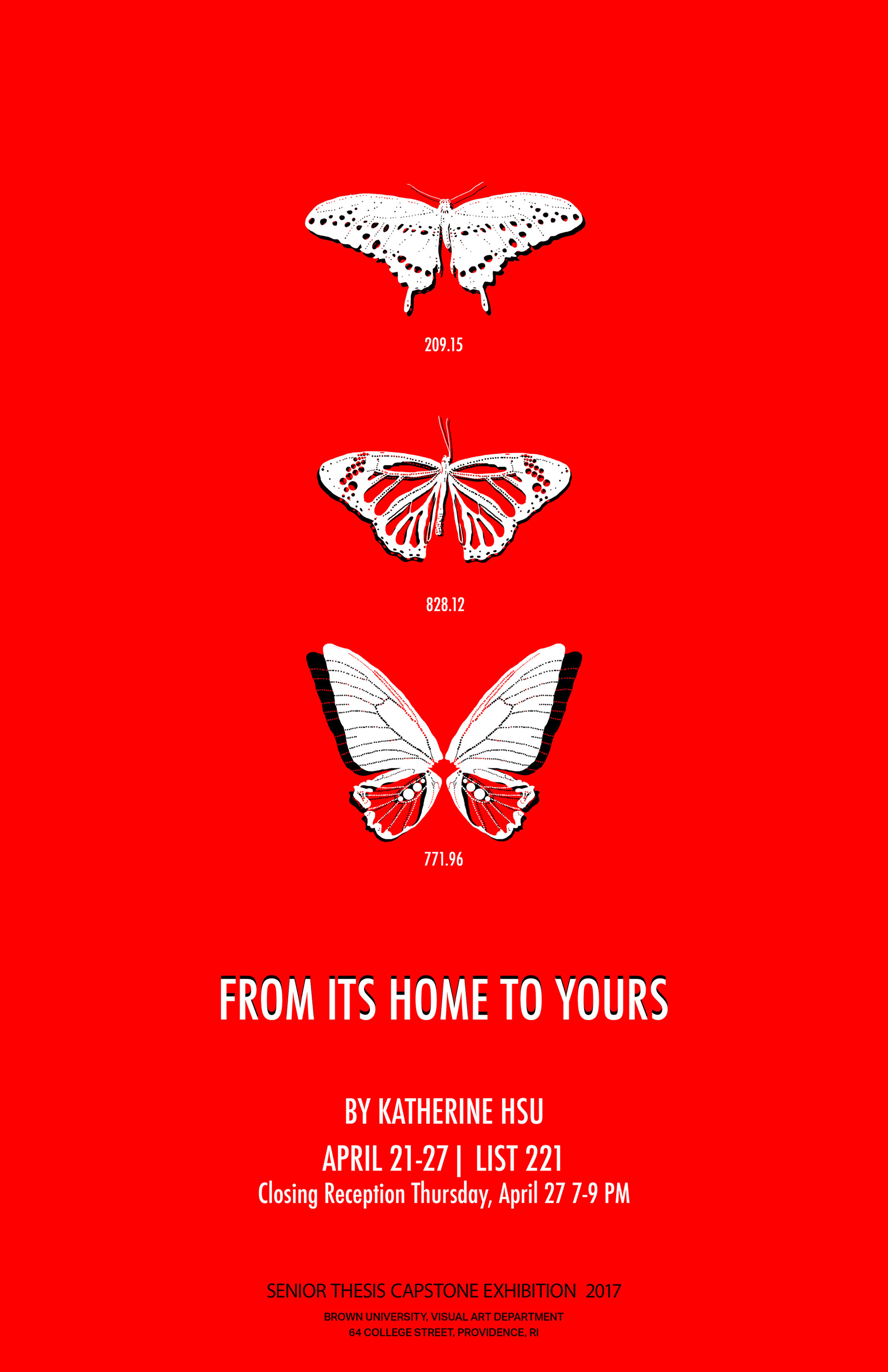 From Its Home to Yours  Exhibition Poster | April 2017