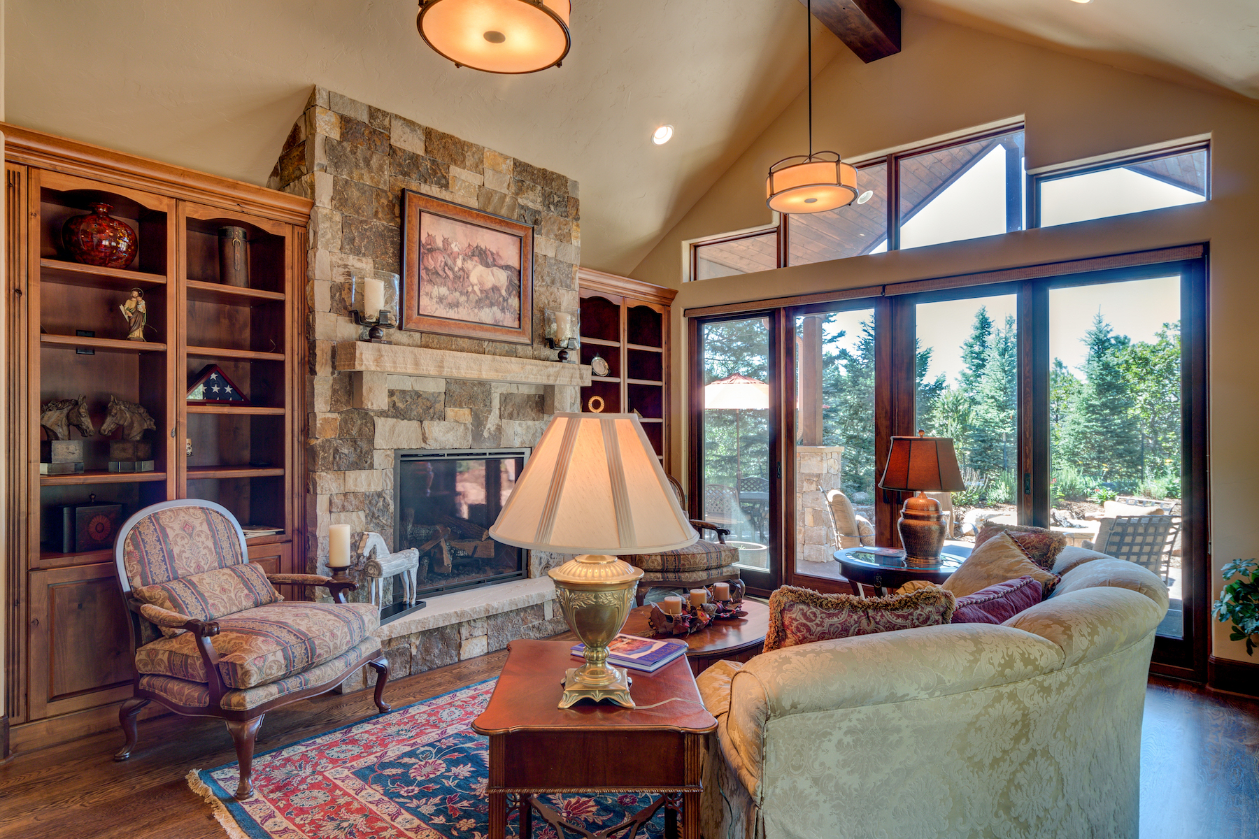 8 - Living Room Fireplace Flanked by Bookcases.jpg