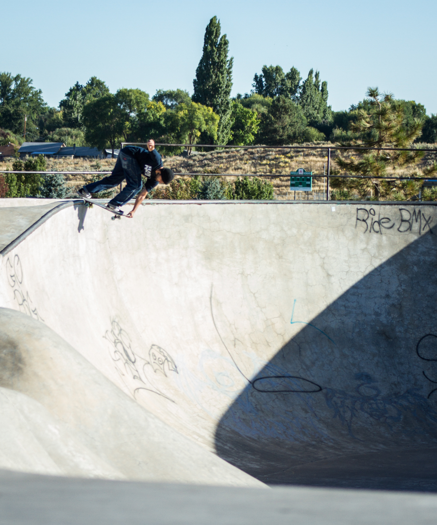 On the same catcher's mitt in Klamath, here's Jojo with a back crail -