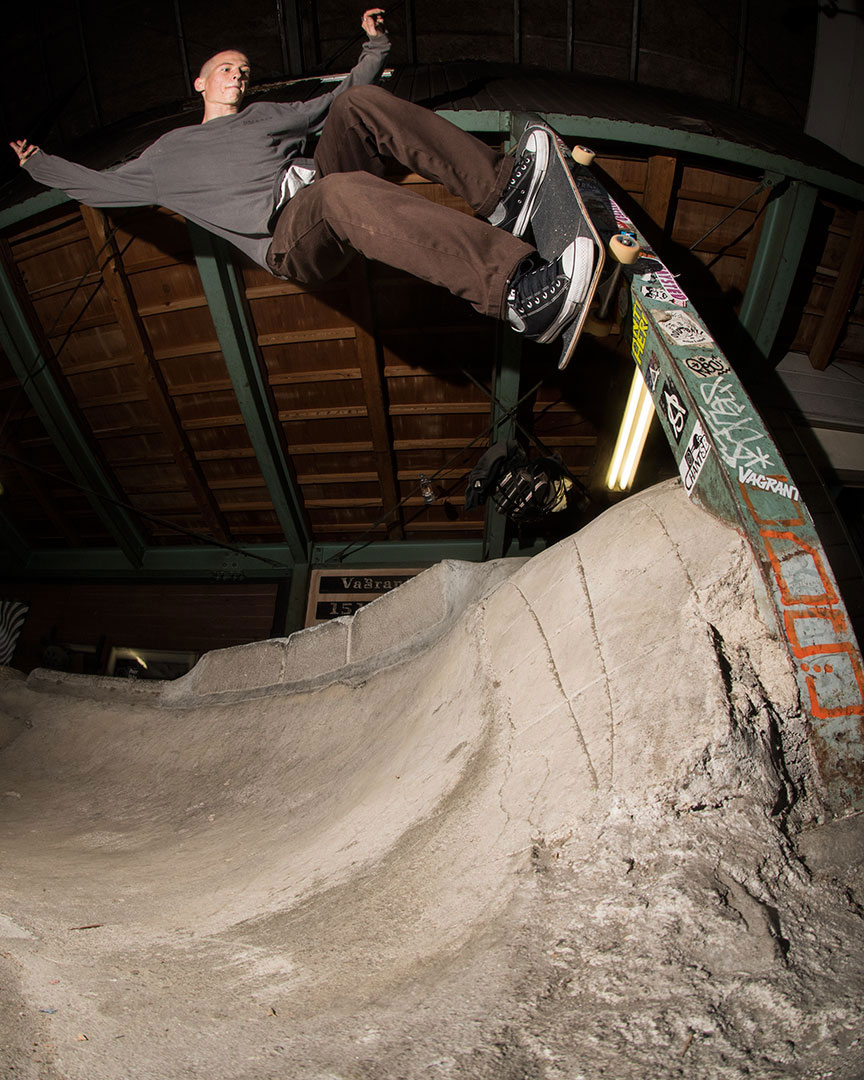 Elijah wasted no time! Switch polejam at Powerbomb skatepark.