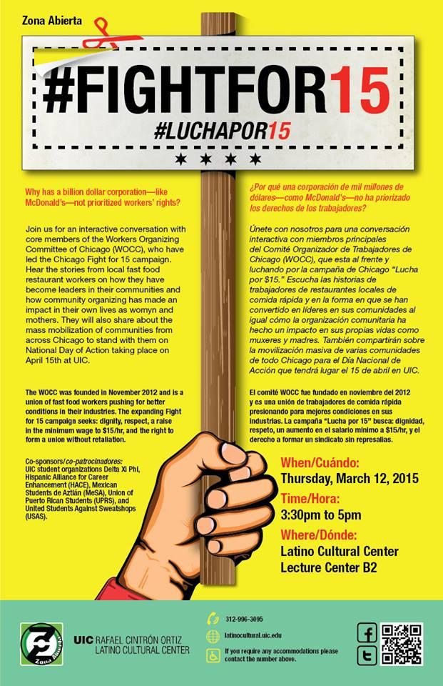 Poster. #Fightfor15. #Luchapor15