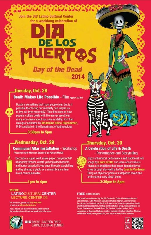 Poster. Dia de los Muertos. Day of the Dead 2014