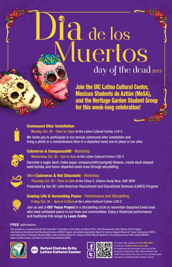 Poster. Dia de los Muertos. Day of the Dead 2015