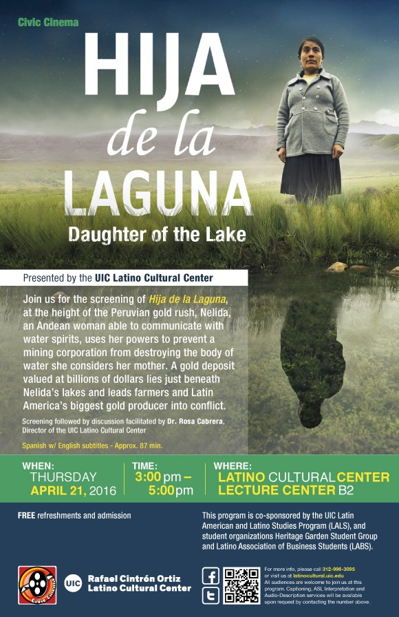 Poster. Civic Cinema. Hija de la Laguna. Daughter of the Lake