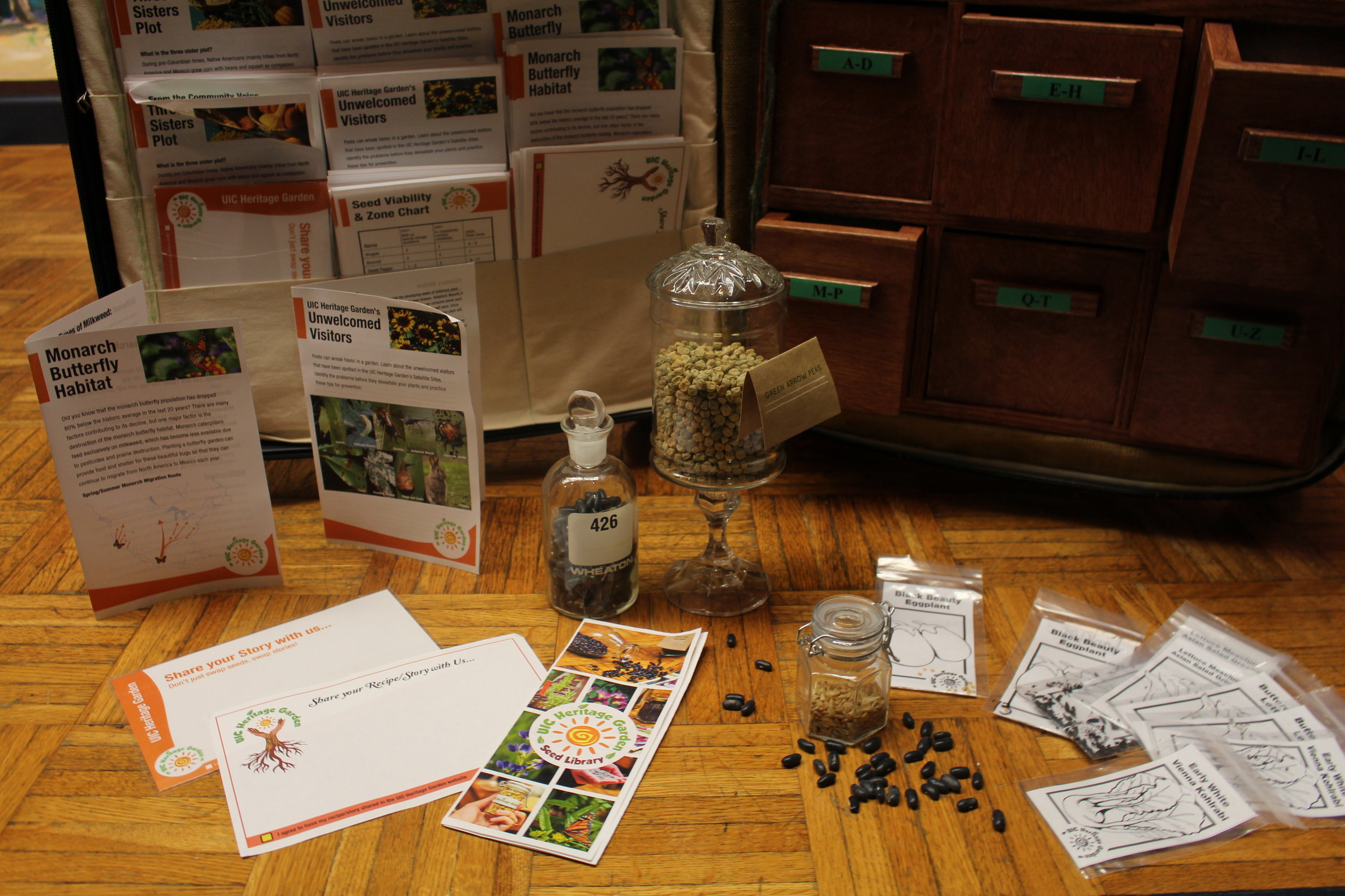 Seed packets and pamphlets