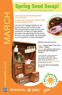Flyer for the Spring Seed Swap