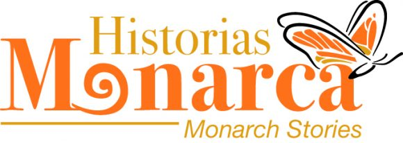 Logo of Monarch Stories in Spanish. Logo de Historias Monarcas