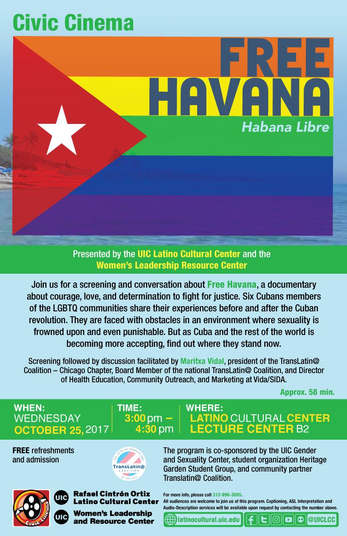 Poster. Free Havana. Habana Libre