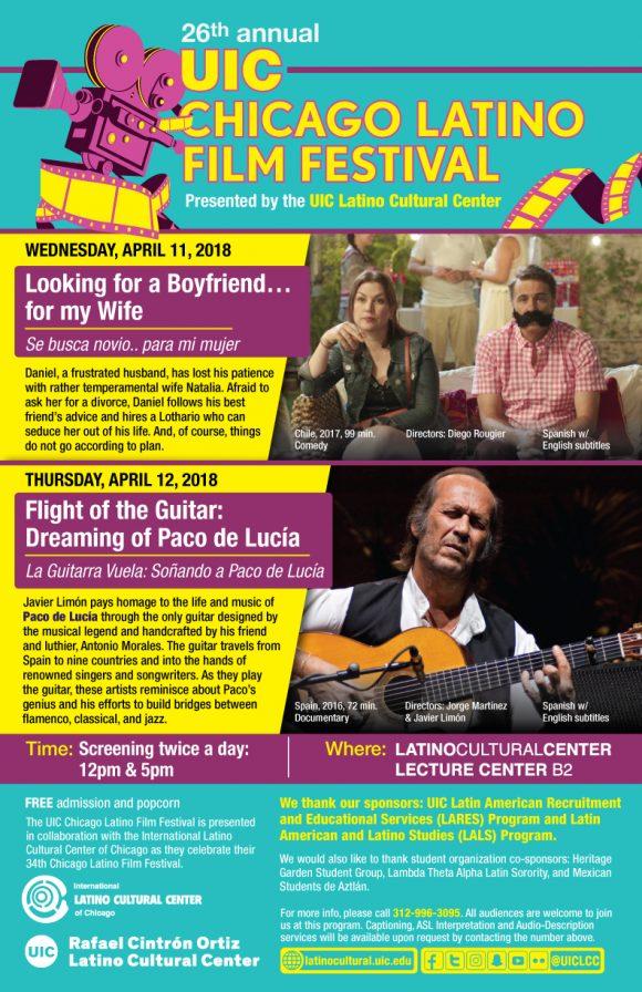 Poster. UIC Chicago Latino Film Festival