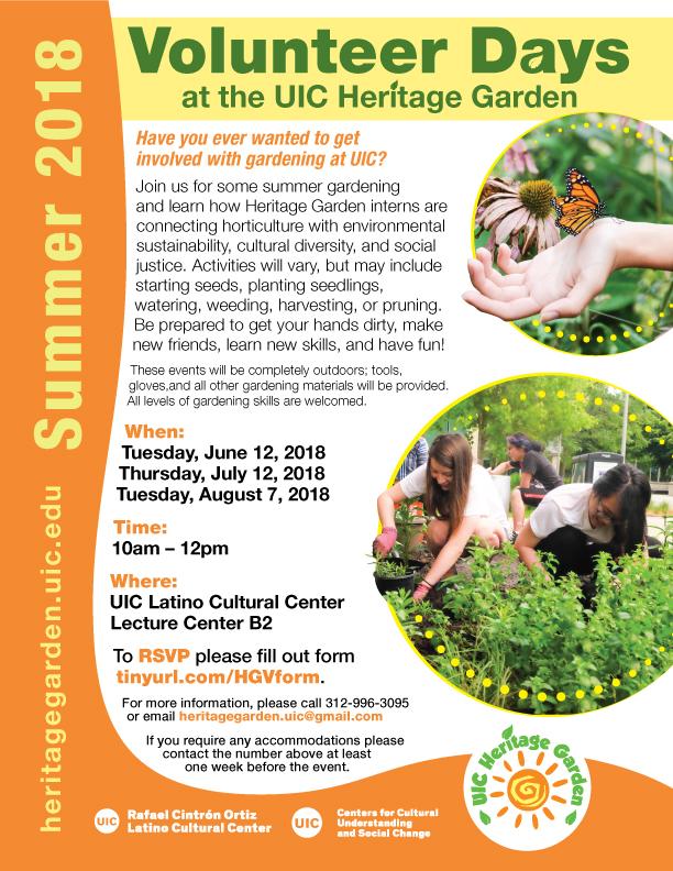 Volunteer Day Poster Summer 2018