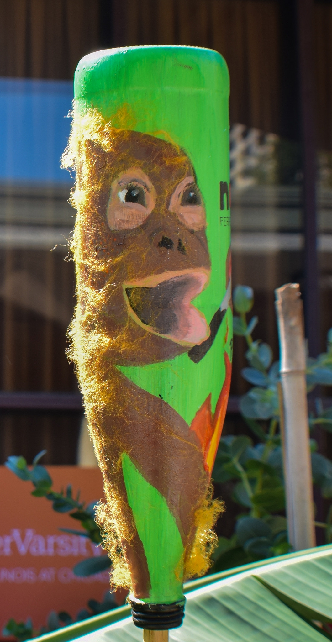 Jocelyn's screaming orangutan bottle due to destruction of its home for humans to get palm oil.