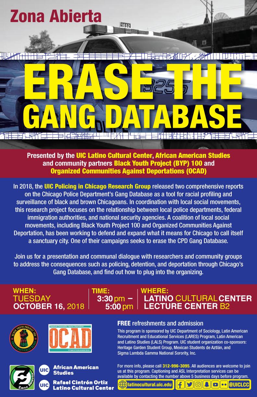 Erase the Gang Database
