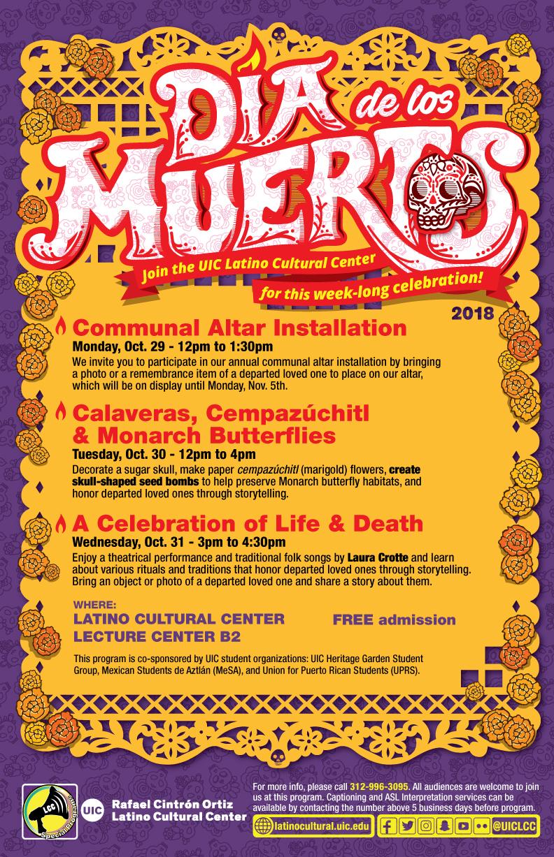Dia de Los Muertos 3 day Celebration