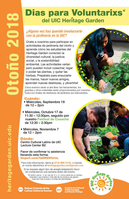 Dias para voluntarixs en Otoño, 2018