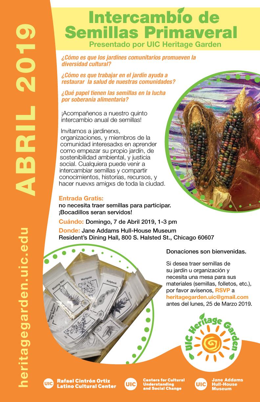 Poster del Intercambio de Semillas 2019