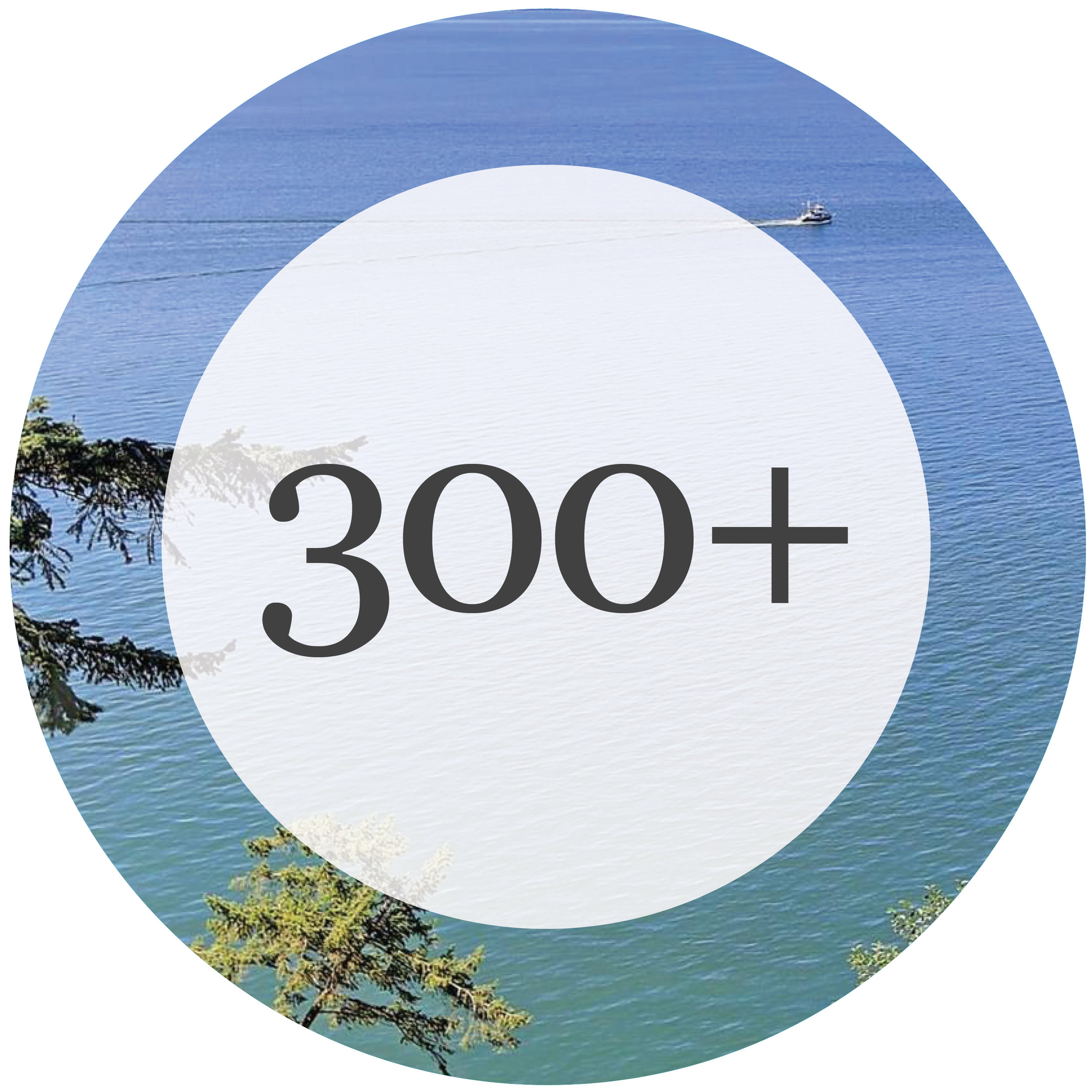 Number of islands in the Puget Sound
