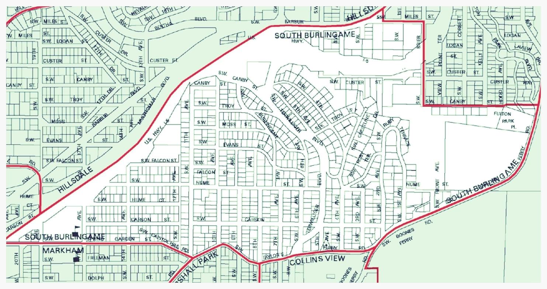 South Burlingame Neighborhood Map