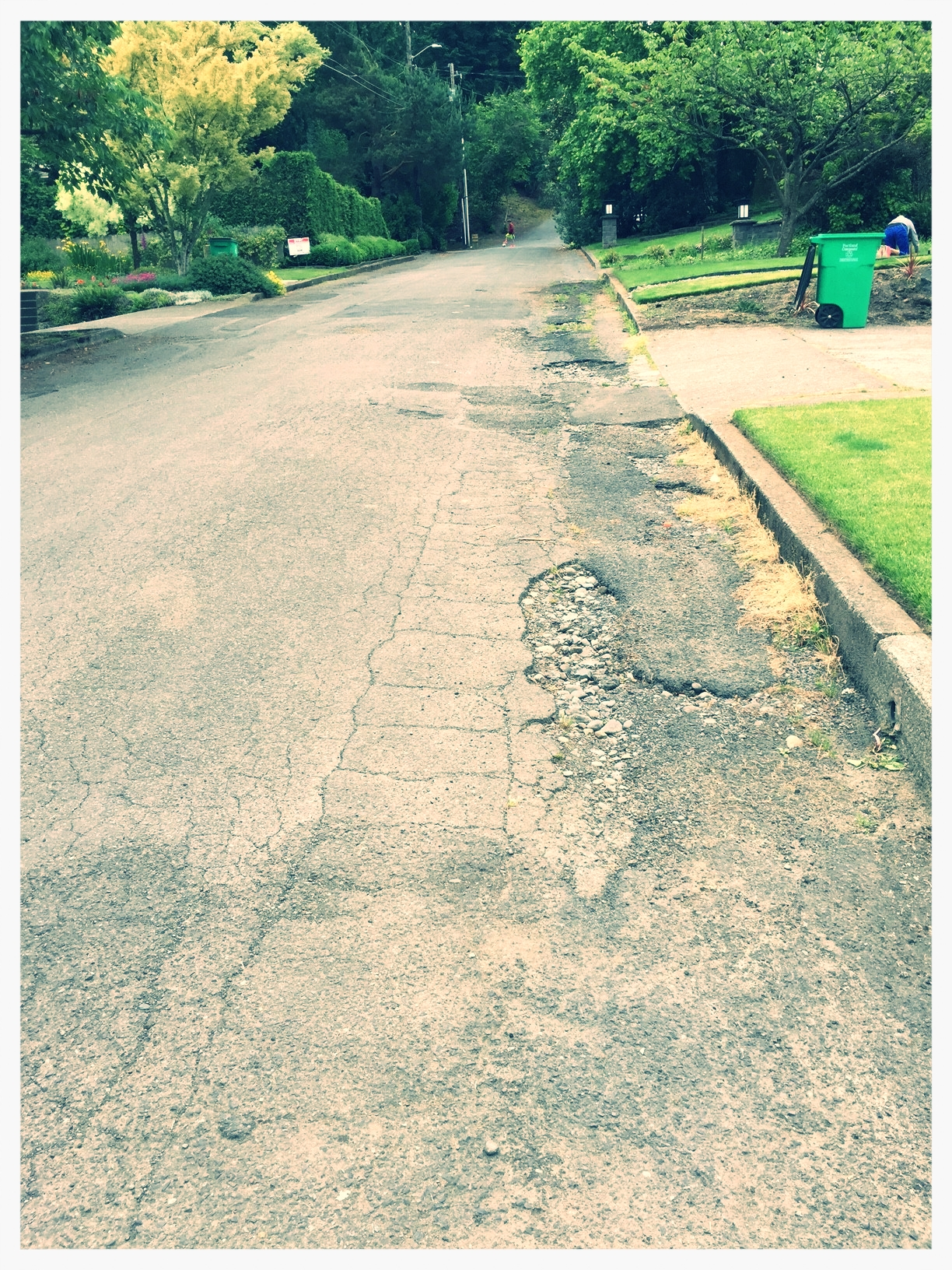 Proposed High Volume Traffic Street - Disrepair & No Sidewalks