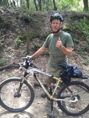 My dad, the bike master. Listen to his thumbs up and design your life around the wonderful transport of biking.