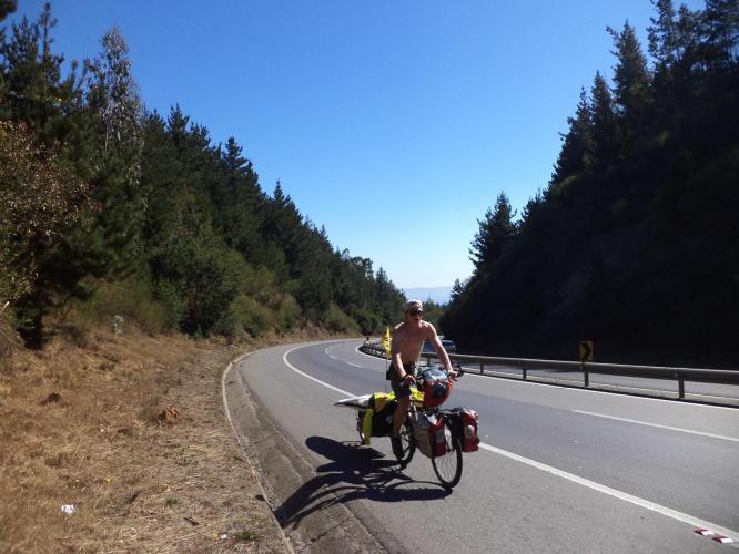 gabe leoni biking in chile