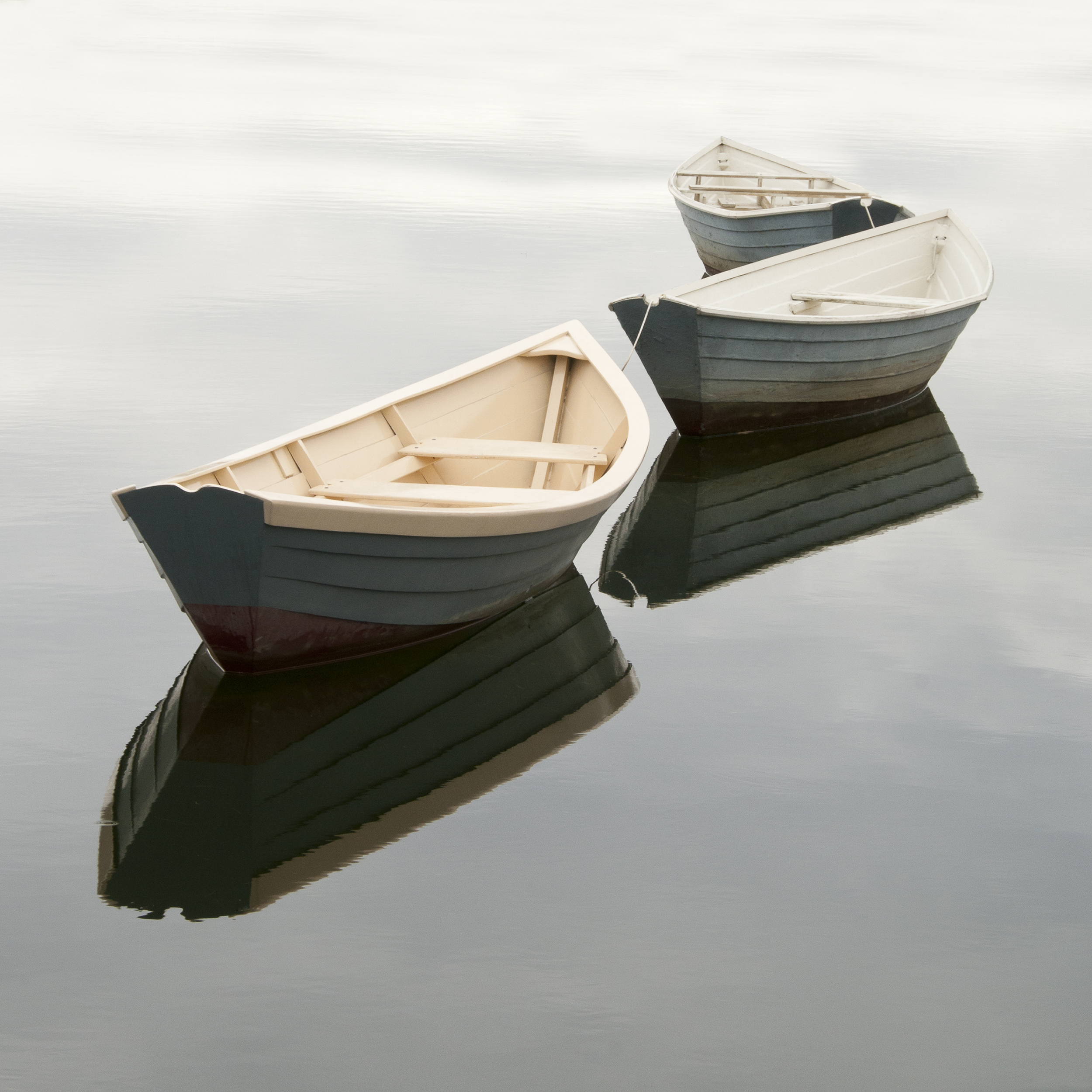 """""""Three Dories In The Fog"""" Photography By Stephen Maka"""