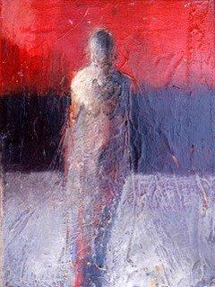 "Helen Steele - UNTITLED  oil on canvas - 12""h x 9""w"