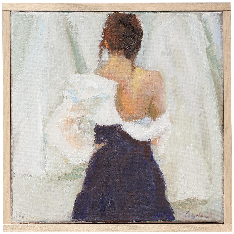 "Diane , oil on canvas, 12"" x 12"""