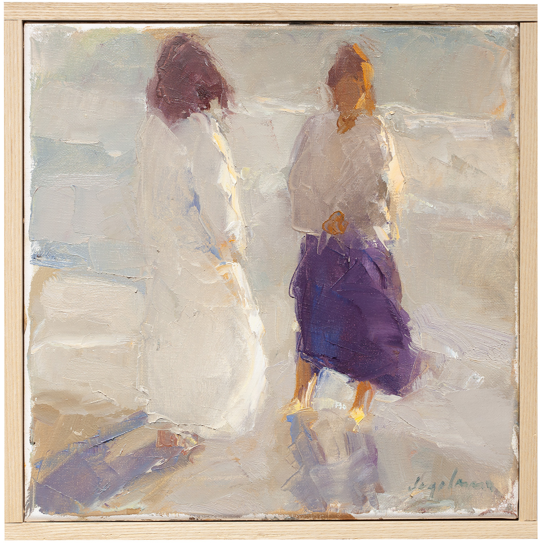 "Golden Gulf Light,  oil on canvas, 12"" x 12"""