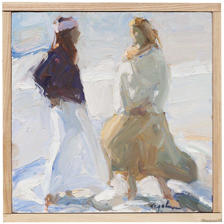 "Pale Sea , oil on canvas, 10"" x 10"""
