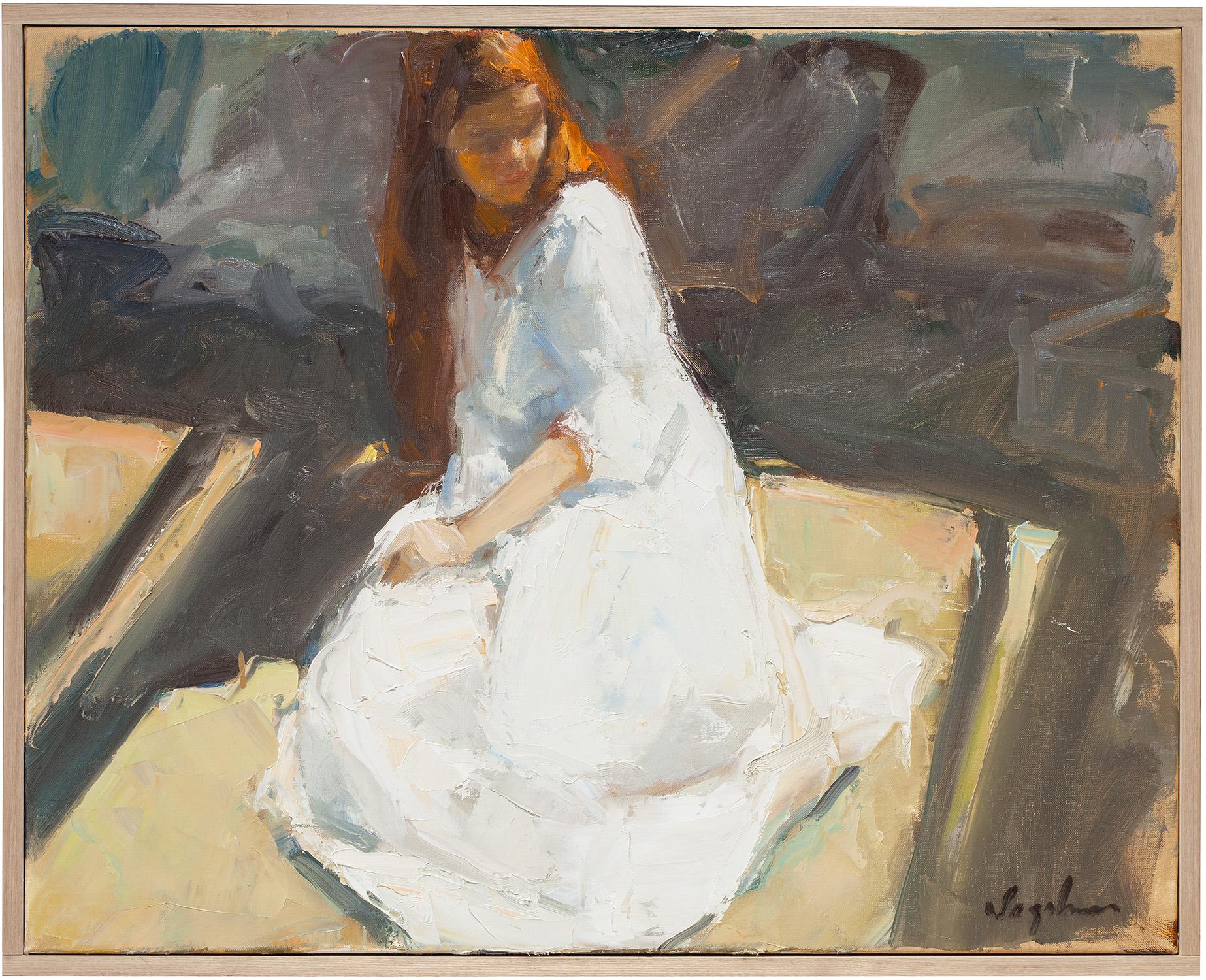 "Shakespearian Heroine , oil on canvas, 20"" x 25"""