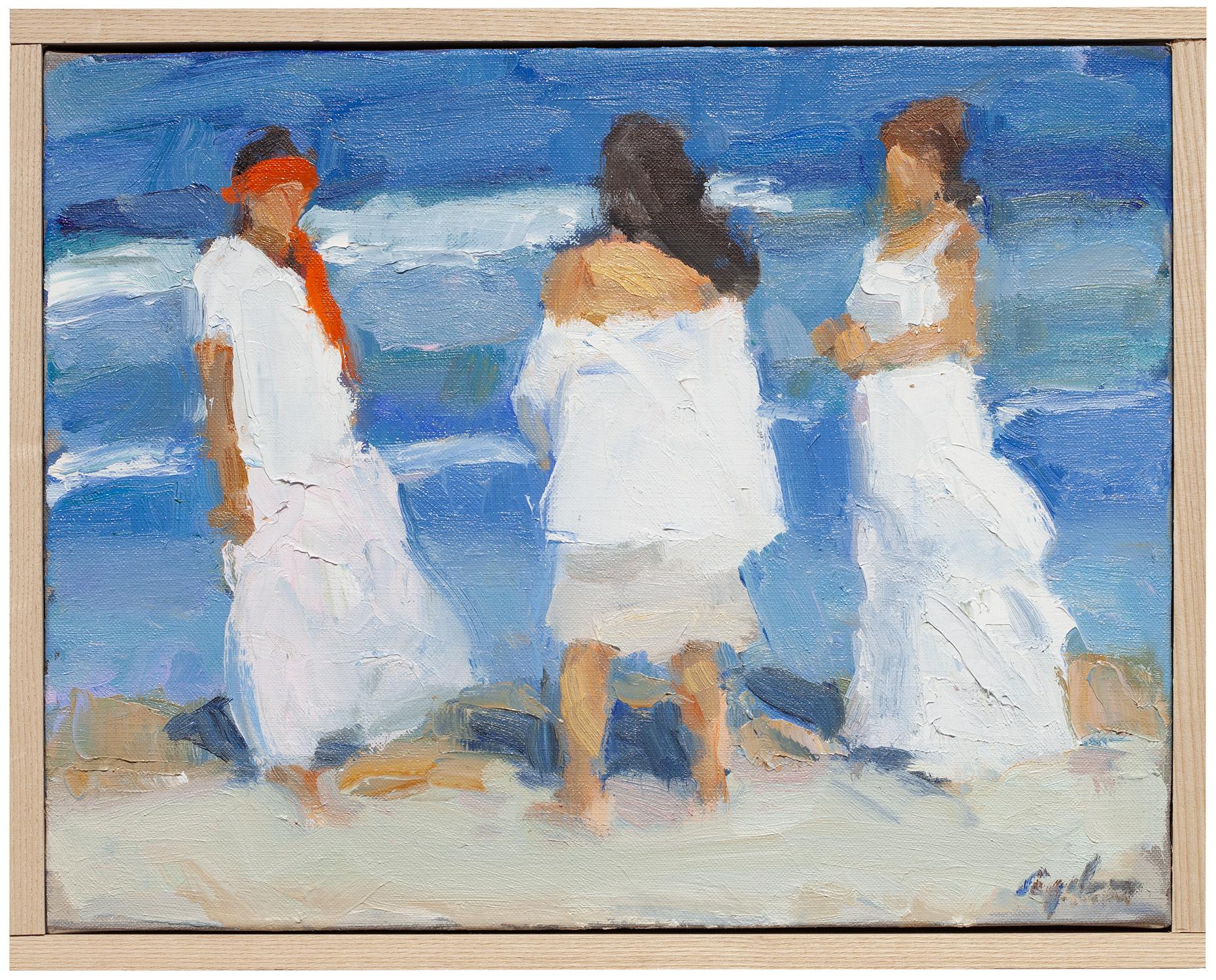 Three White Dresses , oil on canvas, 12 x 15