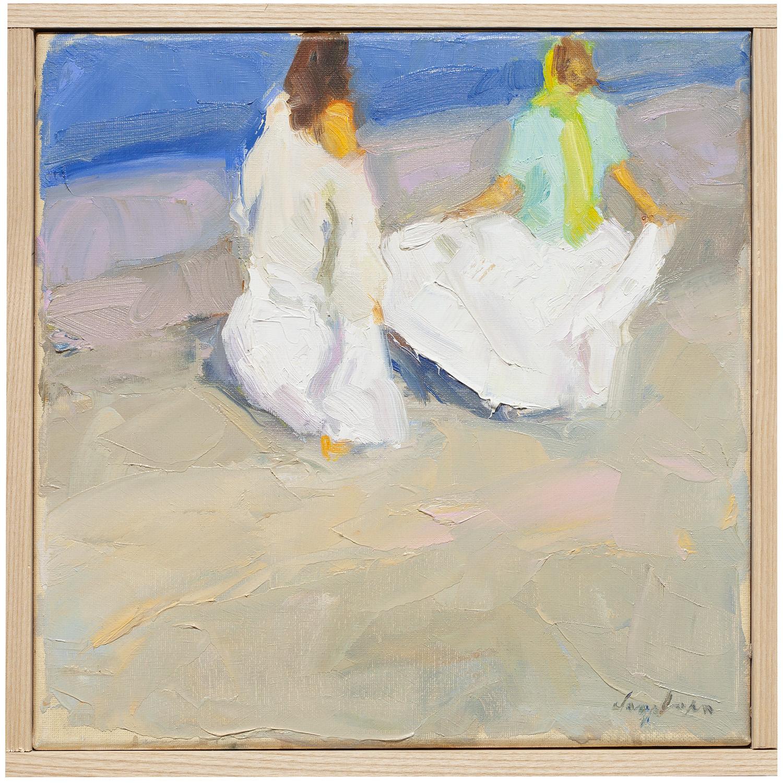 """Toward the Sea , oil on canvas, 12"""" x 12"""""""