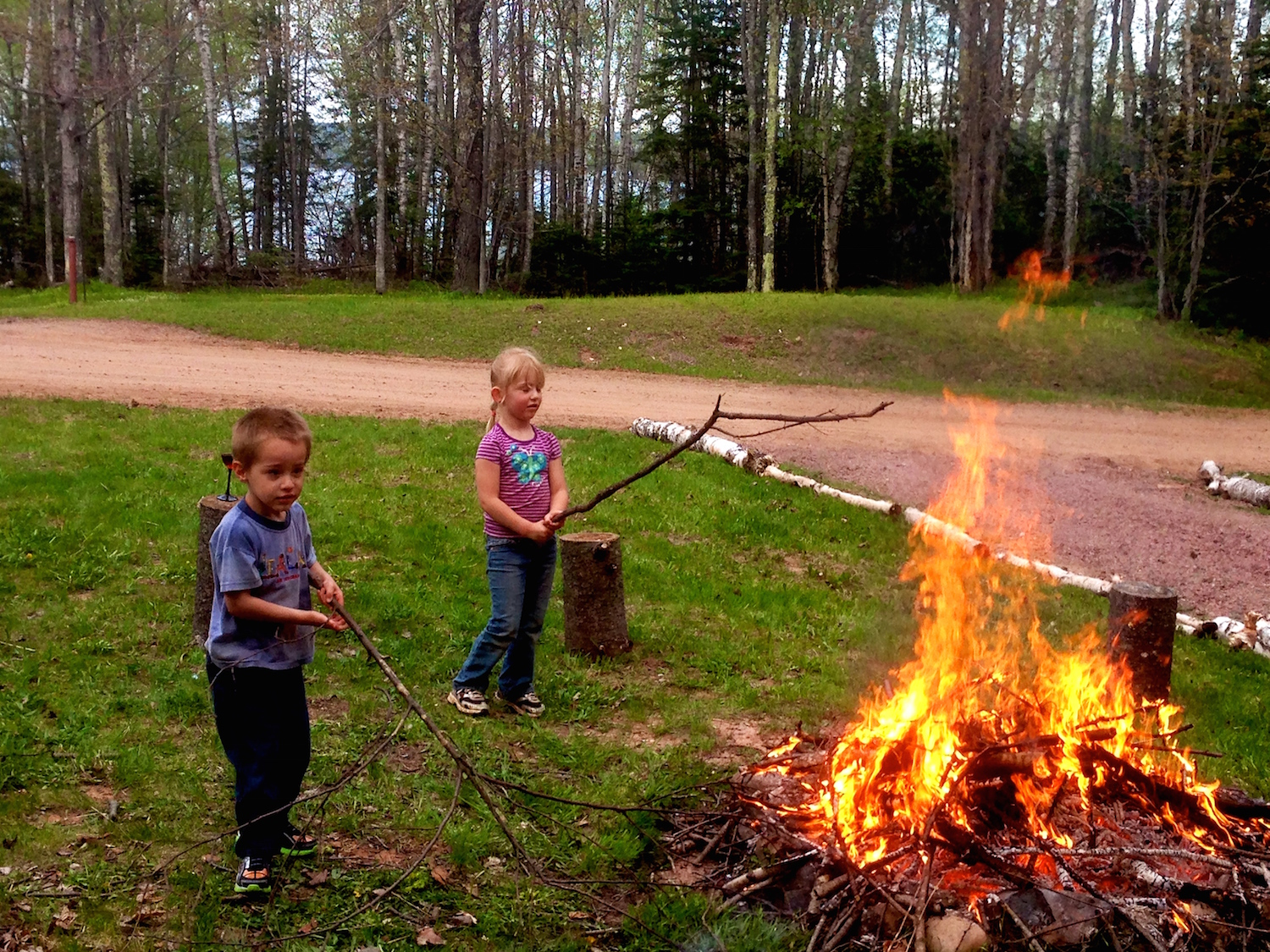 Fun at the fire pit.