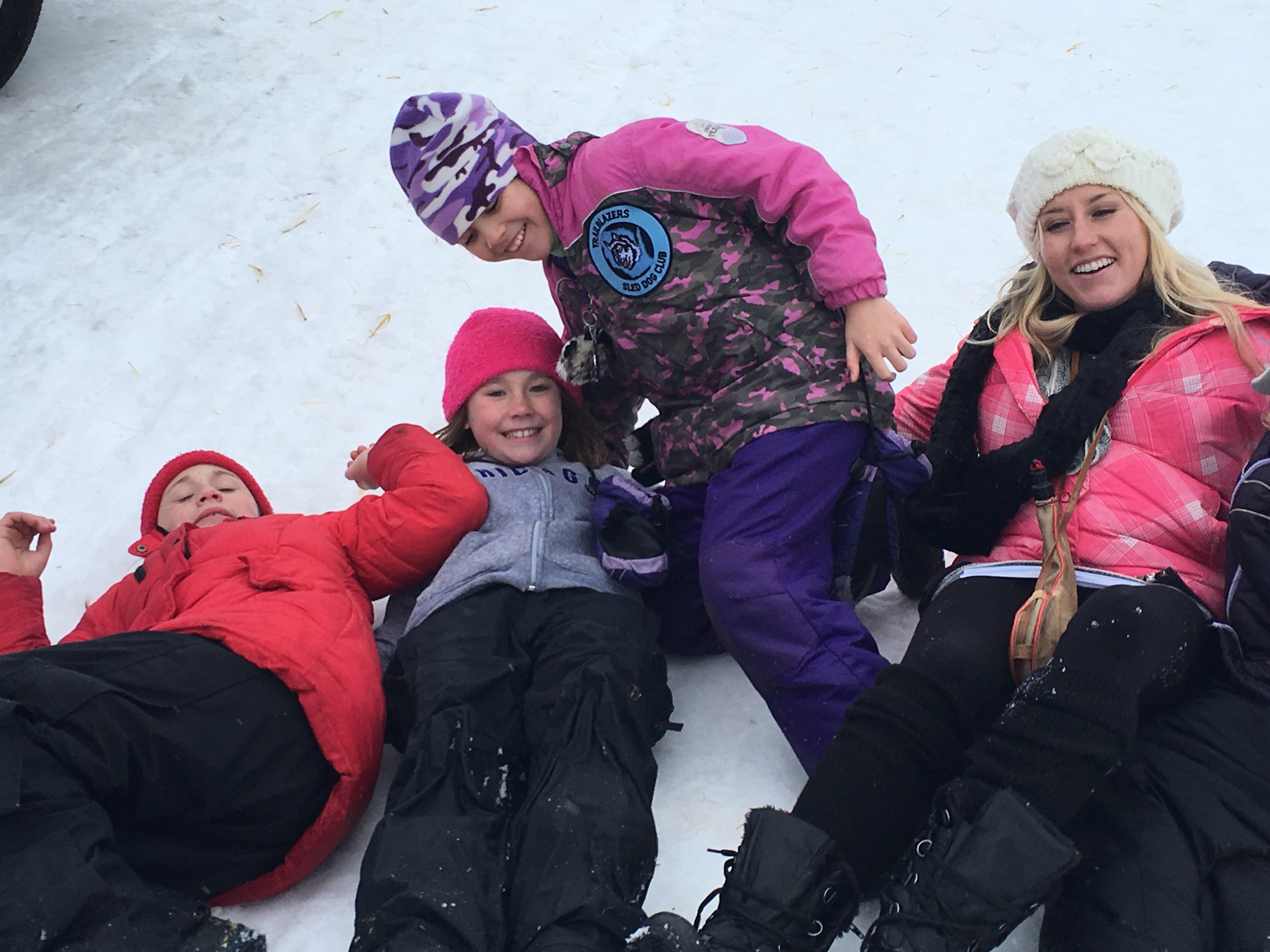 Fun in the snow at the dog sled races