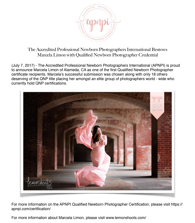 Qualified Newborn Photographer Certificate for lemonshoots.jpg