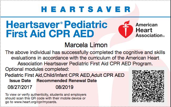 AHA Infant CPR Badge