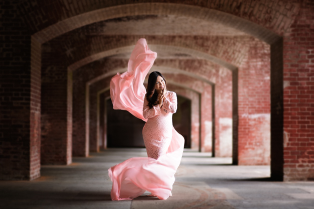 Maternity Photography Alameda - Pregnant Woman at Fort Point
