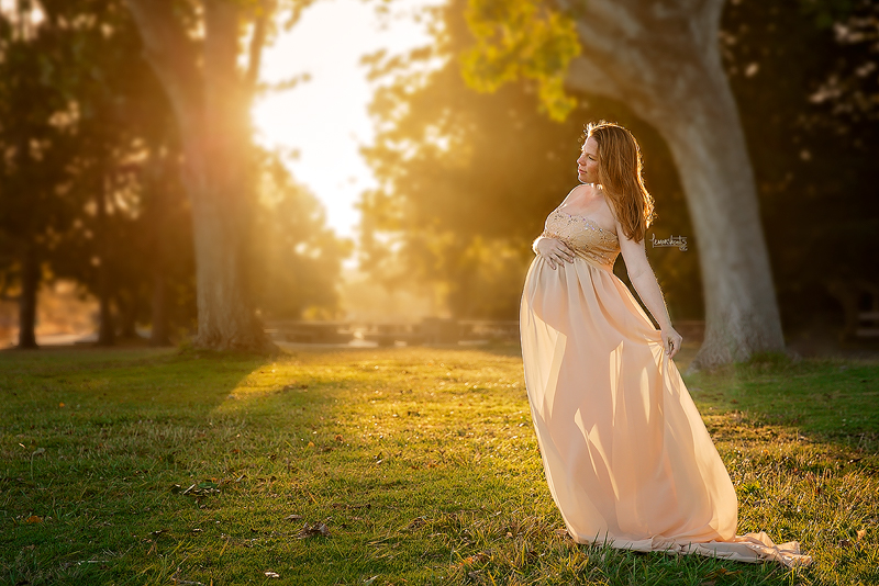 Alameda Maternity Photography Prengnant Woman in Sunset