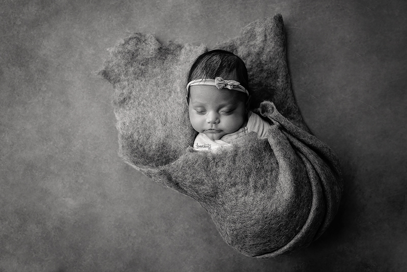 Newborn Photography Alameda - Baby Girl Wrapped and sleeping