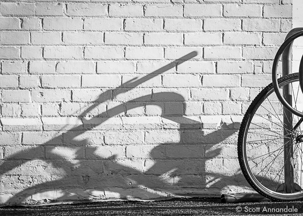 Bicycle Shadow, Locke Street, Hamilton
