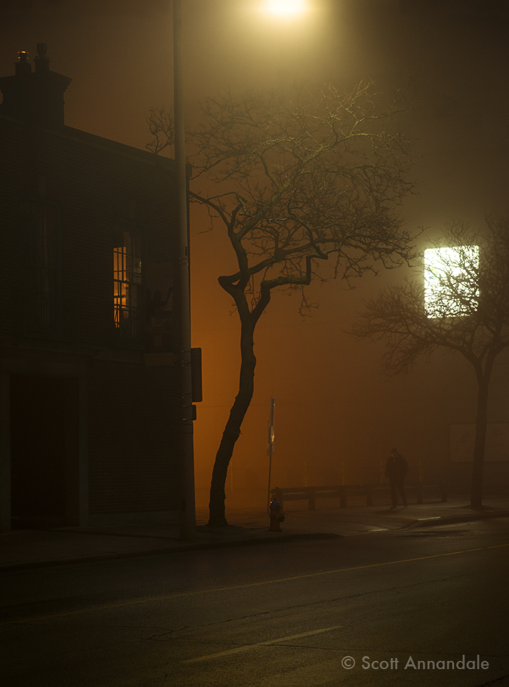 Foggy Night, James South at Main
