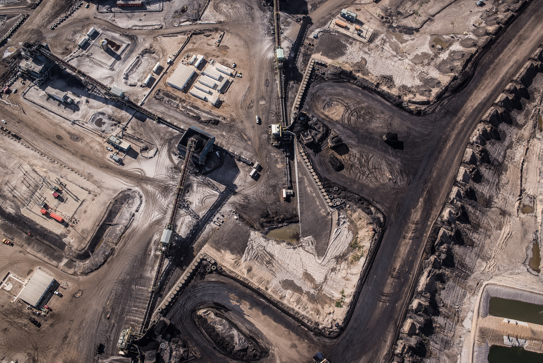 Syncrude Aurora North Mine bitumen crushers, July 2016.