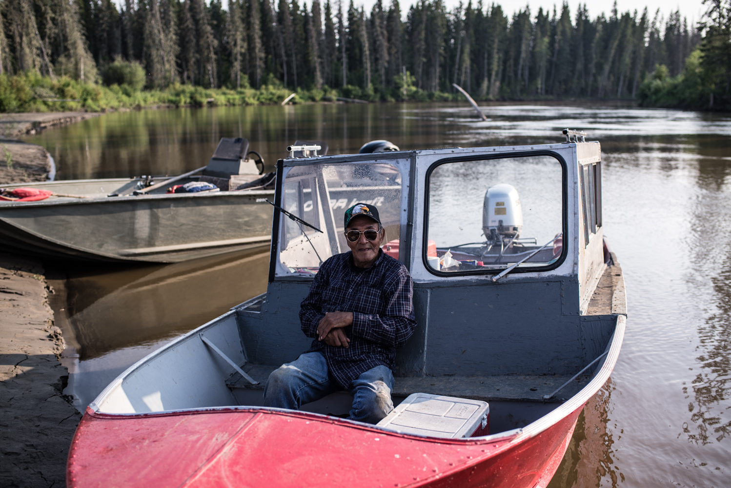 Archie Antoine is an Elder from Mikisew Cree First Nation. He is in his 80s and still lives on his trapline, July 2017.