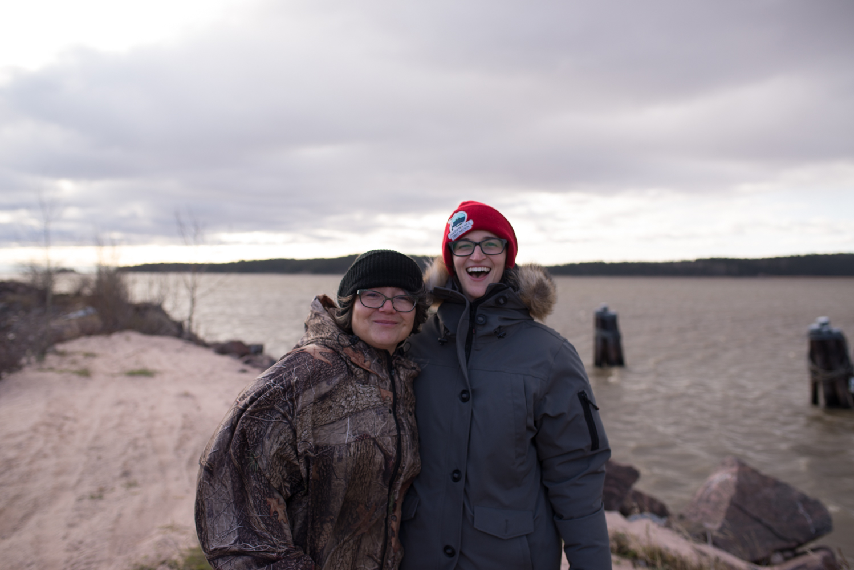 Sara Loutitt and Tara Joly, October 2017.